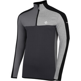 Dare 2b Depose Camiseta Core Stretch Hombre, black/ebony grey/aluminium grey/ash grey marl